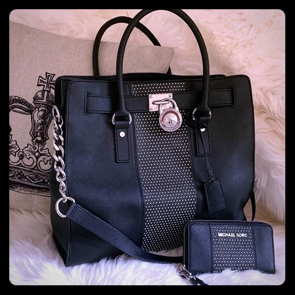 Michael Kors Handbags - Michael Kors micro studded  xl Hamilton set